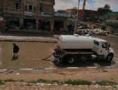 تواصل هطول الأمطار بشمال سيناء والدفع بسيارات لسحب البرك من الشوارع