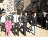 الشرطة ومجلس مدينة السنطة يفضون سوق المواشى بقرية الجعفرية بسبب كورونا..صور