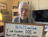 كورونا يفسد حفلة عيد ميلاد مسن الـ101.. وهذا ما طلبه بدلا من الاحتفال