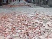 شاهد.. أثار حطام زلزال ضرب العاصمة الكرواتية زغرب