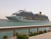 نجاح عبور سفينة ركاب إيطاليا لقناة السويس ضمن إجراءات خاصة للإرشاد عن بعد (صور)