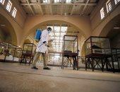 حملة تطهير وتعقيم بالمتحف المصرى بالتحرير