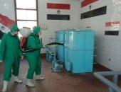 شركة مياه الشرب بشبين القناطر تعقم مبانيها ومحطات التنقية والمعالج