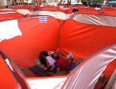 الفلبين تؤوى المشردين فى خيام معقمة لمنع إصابتهم بفيروس كورونا.. فيديو