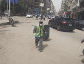 صور ..حملات نظافة بشوارع الجيزة لتحسين الخدمة ومنع انتشار الأوبئة