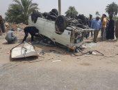 مصرع مواطن وإصابة 15 آخرين فى إصطدام ميكروباص بسيارة نقل بالأقصر
