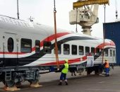 صور.. ميناء الإسكندرية يستقبل أول عربة سكة حديد نموذج من العربات الروسية للسكة