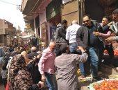 فض سوق الثلاثاء بقرية الدير فسى طوخ بالقليوة لمواجهة فيروس كورونا (صور)