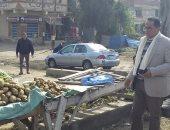 صور.. إخلاء سوق الركابية بكفر البطيخ فى دمياط لمواجهة فيروس كورونا
