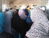 أضبط مخالفة.. زحام كبير للمواطنين أمام مكتب بريد إسكو بشبرا الخيمة لصرف المعاشات