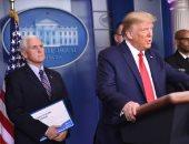 """صور.. """"خطأ قاتل"""" من ترامب ومعاونيه خلال خطابه الأخير عن أزمة كورونا"""