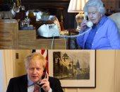الملكة إليزابيث تجرى اتصالاً هاتفيًا مع بوريس جونسون من داخل العزل الصحى