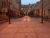 """""""محمد"""" يشارك صورة لخلو شوارع وسط البلد من المارة تنفيذا لقرار حظر التجوال"""
