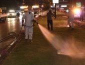 الحماية المدنية تجرى عملية تطهير للشوارع بكفر الشيخ لمواجهة كورونا
