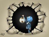 كاريكاتير اليوم السابع.. العالم يقف عاجزا أمام كورونا
