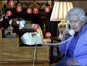 لمحة نادرة من غرفة جلوس الملكة إليزابيث فى قلعة وندسور.. صور