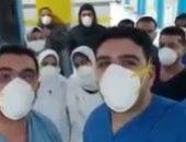 فرحة الأطباء بشفاء 3 حالات من فيروس كورونا في مستشفى العجمى.. فيديو