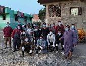شباب الحومة ببنى سويف يشاركون بحملة تطهير يومية للقرية