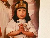 """رامى رضوان يشارك متابعيه صورته بزى فرعونى: """"الناماستيه"""" طريقة آمنة للسلام"""