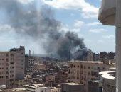 صور وفيديو لحريق مصنع الملح والصودا فى محرم بك بالإسكندرية