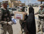الجيش الأردنى يوزع السلع الغذائية على السكان خلال حظر التجوال بسبب كورونا