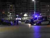 انتشار قوات الأمن بالإسكندرية على طريق الكورنيش لتنفيذ حظر التجوال