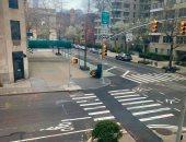 امريكا فى مواجهة كورونا قارئة تشارك بصور خلو شوارع مانهاتن وقت الحظر