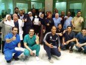 صور.. مستشفى إسنا للعزل تعلن خروج 11 حالة جديد بعد تعافيهم من كورونا