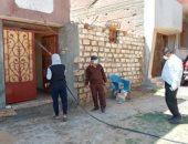 نقابة الزراعيين تطهر قريتين بالوادى الجديد للوقاية من كورونا.. صور