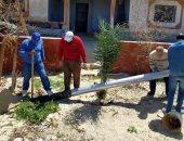 صور.. انطلاق حملة تغيير أعمدة الكهرباء المتهالكة بالعريش فى شمال سيناء
