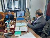 الفيديوكونفرانس بديل آمن لاجتماعات وكيل صحة المنوفية بمديرى الإدارات