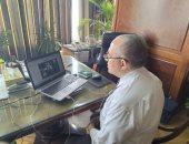 وزير الرى يجتمع مع قيادات الوزارة بالفيديو كونفرانس للحد من انتشار كورونا