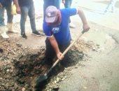صور.. إصلاح خطوط مياه وسط مدينة العريش وتسيير قافلة طبية بحى الكرامة