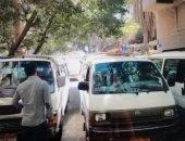 أهالى شارع زكريا بالجيزة يشكون من تجمعات موقف عشوائى بجوار المنازل