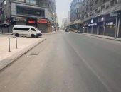 """""""رامى"""" يشارك صوره لخلو شارع طلعت حرب بوسط البلد من المارة خلال حظر التجوال"""