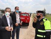 محافظ الغربية يضبط 7 مواطنين أثناء تبويرهم أرض زراعية بطنطا ويستدعي الشرطة