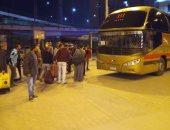 النقل تحرك أتوبيسات من محطة مصر لتوصيل ركاب القطارات القادمة بعد الحظر