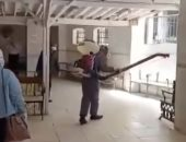 فرق صحة بنى سويف تعقم القرى والمستشفيات لمواجهة كورونا.. صور