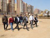 رئيس جامعة بنها يتفقد إنشاء مبنى المعامل المركزية والمكتبة المركزية