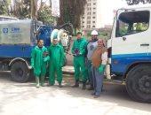 مياه المنوفية تقود حملة رش وتطهير الشوارع الرئيسية بمدينة شبين الكوم