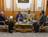 """""""العصار"""" يشكر السفير الباكستانى عقب انتهاء عمله بمصر: نسعى لاستمرار التعاون"""