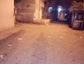 قارئ يشارك صورة خلو الشارع من المارة بقرية هربيط في الشرقية