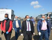 صور..نائب محافظ الاسكندرية يتفقد إجراءات السلامة فى معالجة المخلفات الطبية
