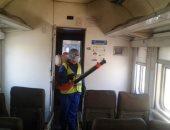 صور.. السكة الحديد: نواصل أعمال تعقيم وتطهير القطارات والمحطات ضد كورونا
