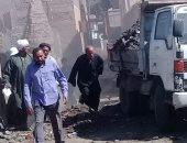 رفع 20 طن من القمامة والمواد الصلبة فى حملة نظافة بمنطقة الروازق فى الأقصر