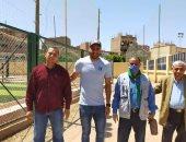 حارس الزمالك يشارك وزارة الرياضة فى حملة التطهير والتعقيم للوقاية من كورونا