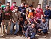 قارئ يشارك بصور لحملة تطهير بكفر بنى سالم بالدقهلية للوقاية من كورونا