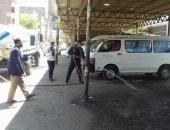 رفع الإشغالات والتراكمات والأتربة فى حملة نظافة بمركز المنشأة فى سوهاج