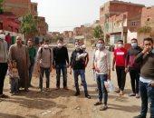 فيها حاجة حلوة.. شباب بنى سويف فى حملة لتعقيم القرى ومساعدة الأسر المحتاجة