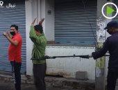 شاهد.. جهاز خاص لاعتقال من يكسر العزل الذاتي في نيبال